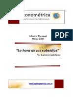 Econometrica - Informe Mensual - Marzo 2014