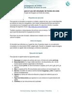 Instrucciones Para El Uso Del Simulador de Frentes de Onda