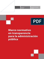 Marco Normativo en Transparencia Para La Administracion Publica