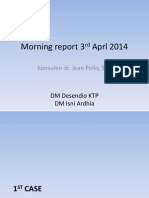 Morning Report 3rd Aprl 2014
