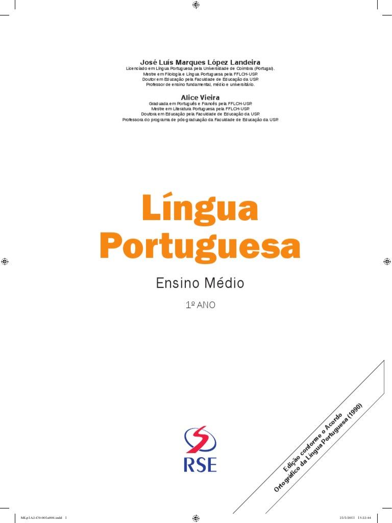 Lingua Portuguesa 1ª Série 305d1b4adcdb1