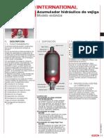 1. Acumuladores Hidráulicos de Vejiga Ejecución Standard