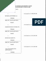 McRO, Inc., d/b/a Planet Blue v. Bethesda Softworks LLC, 12-1509-LPS-CJB, et al. (D. Del. May 1, 2014).