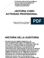 USAC-Auditoría I La Auditoría Como Actividad Profesional