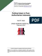 Political Islam in Post-Authoritarian Indonesia