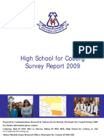 High School for Coburg Survey Report October 2009