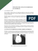 Análisis Elastoplástico Del Contacto No Hertziano Entre Cuerpos Cilíndricos