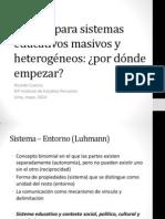 Calidad y Sistema Educativo Superior (Cuenca)