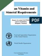 Human Vitamin and Mineral Requirements