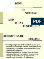 L1- Definitions of Nursing and What is Nursing