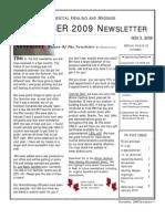 November Newsletter 2009 Color