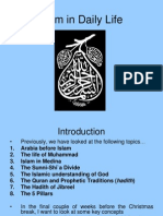 Islamic Practices in Daily Life