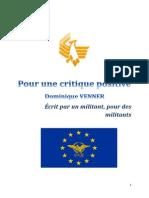 Dominique Venner Pour Une Critique Positive