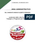 Programma Elettorale 2014 Completo