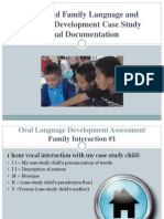 child and family language and literacy development case power point