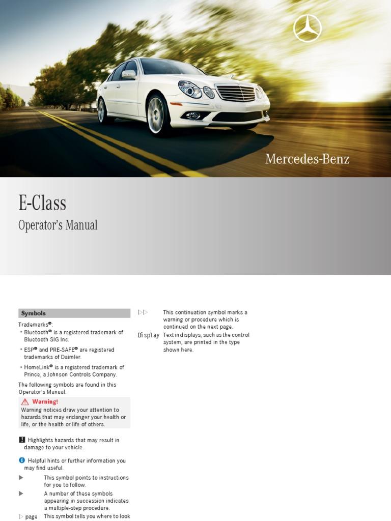 Mercede E200 Wiring Diagram