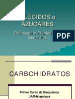 7-1 Glucidos Propiedadesgenerales
