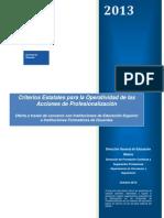 Criterios Generales Profesionalización VR