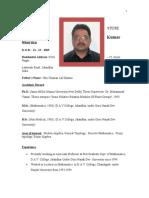 Bio-data ( DR.P.K.sharMA) as on April 2014