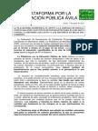 Nota Prensa Apoyo Huelga Estudiantes 8M