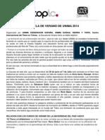 Escuela de Verano de Unima 2014 (1)