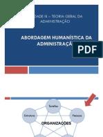 Unidade III - Abordagem Humanista Da Administração