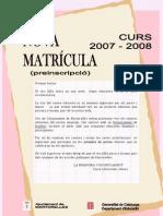 Preinscipció Martorelles 2007/2008