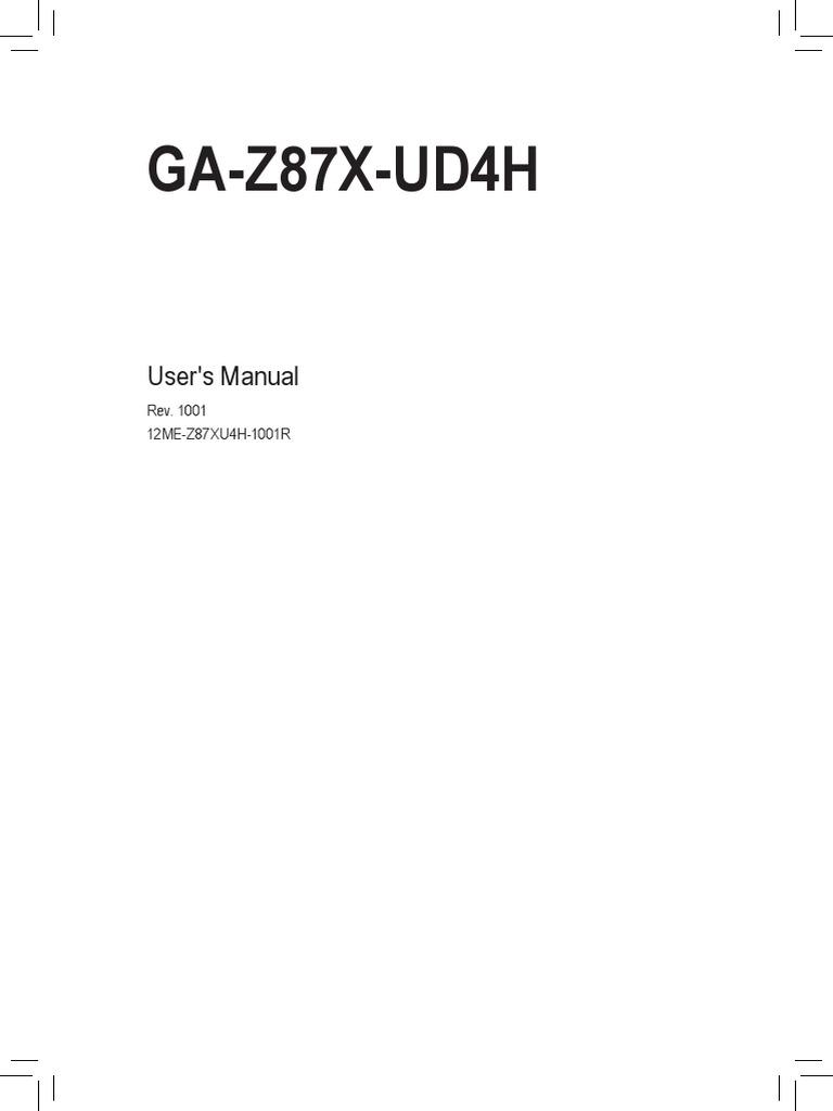 G78X-UD4H Manual   Usb   Bios
