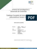 Catalogo de Instrumentos Psicometricos