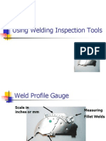 Using Welding Inspection Tools