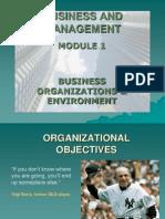 Unit 1.7 - Organizational Objectives