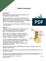 epidural anasthesi