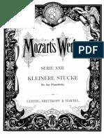Mozart Minuet 1 KV1