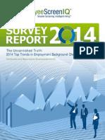 EmployeeScreenIQ Survey Results 2014