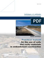 Practical Manual for the Use of Soils and Rocky Materials in Embankment Construction