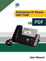 Yealink Advanced IP Phone SIP-T26P User Manual V1.4.1(20090821)