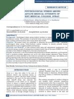 Estudio de Estres Psicologico Entre Estudiantes de Medicina de Surat