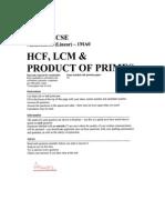 GCSE Exam Topics - HCF, LCM, Product of Prime Factors - Answers