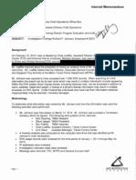 Richard Johnson Audit Findings