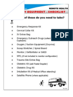 Emergency Equipment Checklist