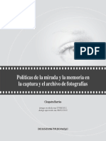 Politicas de La Mirada y La Memoria Archivo Foto
