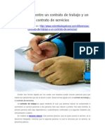Diferencias Entre Un Contrato de Trabajo y Un Contrato de Servicios en Colombia