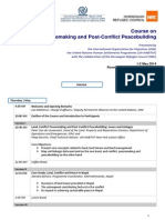 Agenda Training on Land Peacemaking and Post Conflict Peacebuilding_Draft