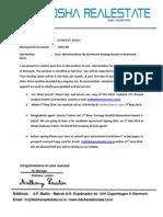 Work Permit Letter for Denmark.