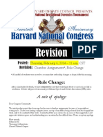 Harvard National Congress Bill Packet