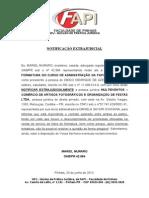 Notificação Extra Judicial Comissão de Formatura
