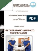 postoperatorioinmediatorecuperacionpresentacion-130522192214-phpapp02