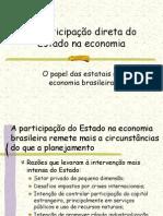 A participação do Estado na economia