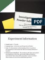 reddinr investigations of powder substances