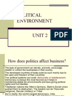 3- Political & Cultural Environment